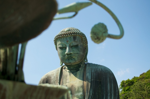I like this shot, though it doesn't do a great job of showing the scale of the world's largest Buddha.