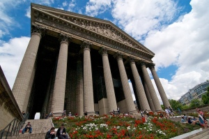 La Madeleine church in Paris.