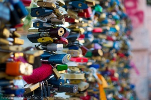 Love locks in Prague